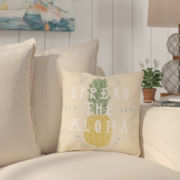 Bowfin Spread The Aloha Outdoor Throw Pillow by Bay Isle Home