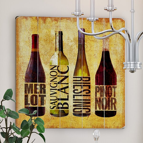 Wine Up Wooden Textual Art by Red Barrel Studio