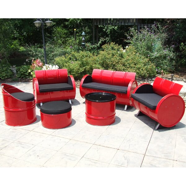 Rosabel 6 Piece Sunbrella Sofa Set with Cushions by Millwood Pines