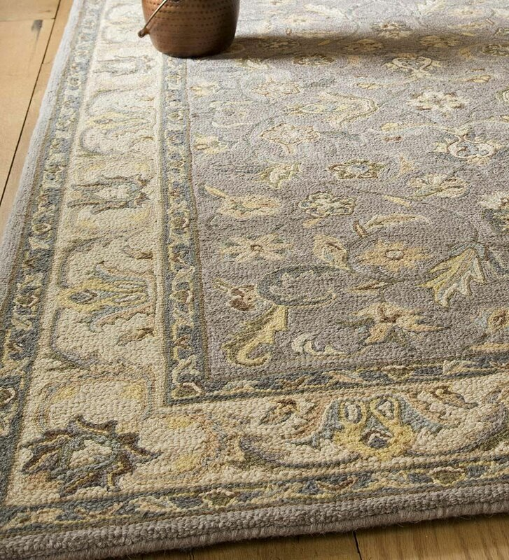 Mclean Hand Tufted Wool Gray Ivory Area Rug