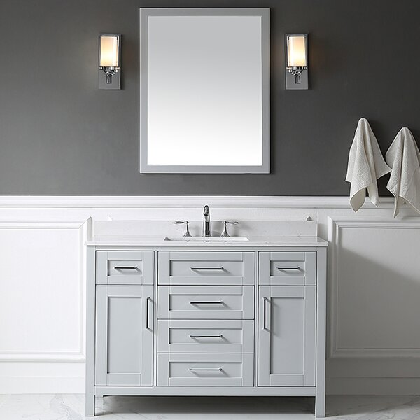 Tahoe 48 Single Bathroom Vanity Set with Mirror by Ove Decors
