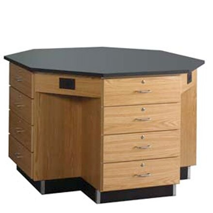 Octagon Workstation by Diversified Woodcrafts