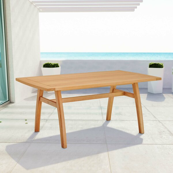 Reanna Wooden Dining Table by Rosecliff Heights