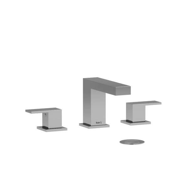 Kubik Widespread Bathroom Faucet With Drain Assembly By Riobel