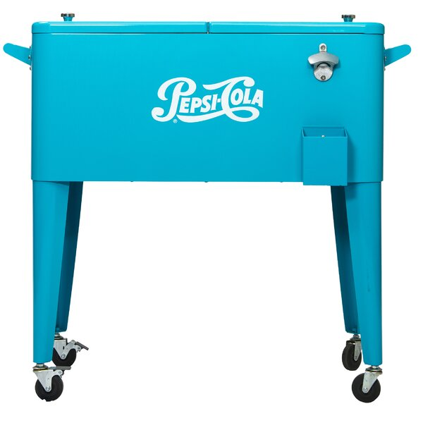 80 Qt. Pepsi Patio Rolling Cooler by Permasteel