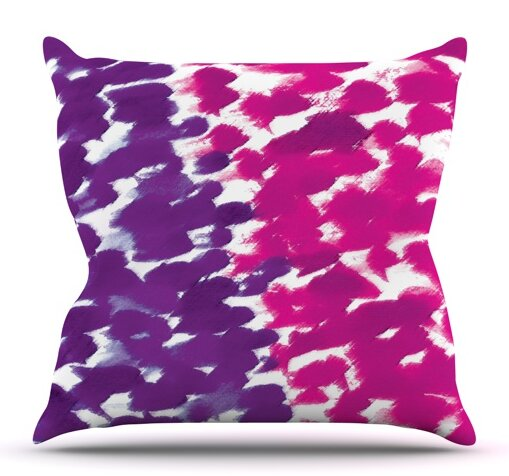Fleeting Purple by Emine Ortega Outdoor Throw Pillow by East Urban Home