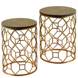 Poe 2 Piece End Table Set by World Menagerie