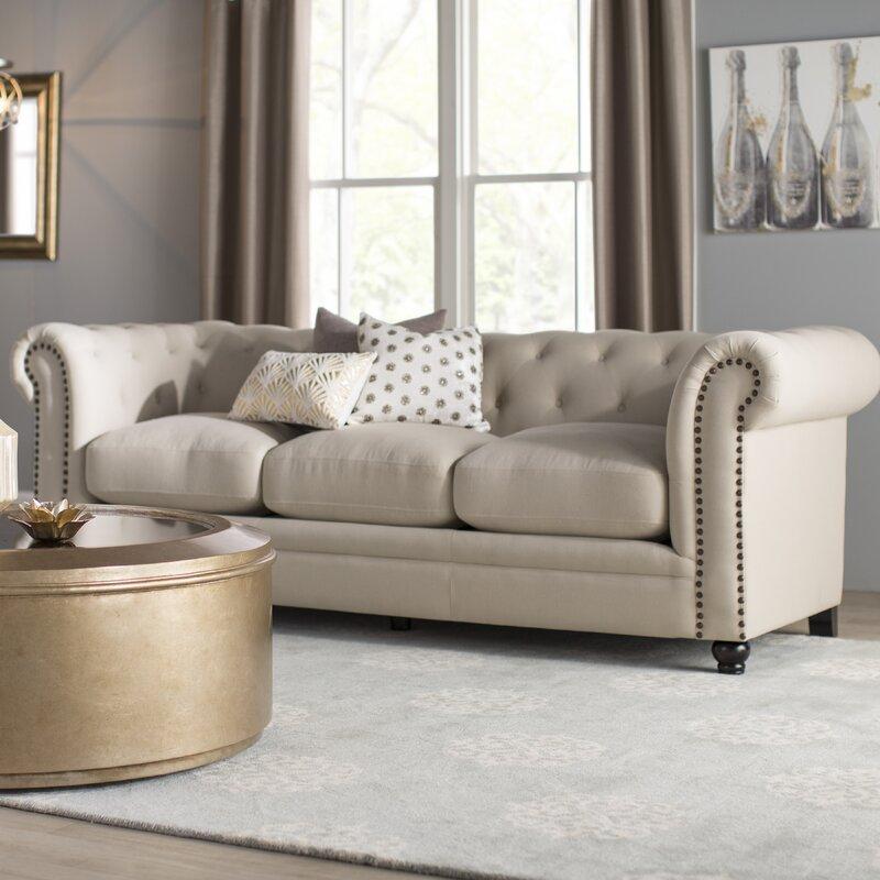 Willa Arlo Interiors Dalila Upholstered Chesterfield Sofa
