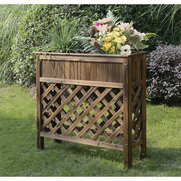 Patio Fir Wood Raised Garden by Convenience Concepts