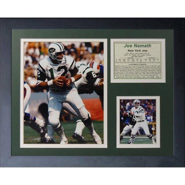 Joe Namath Home Framed Memorabilia by Legends Never Die