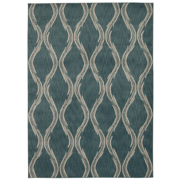 Galsworthy Aqua Area Rug by Longshore Tides