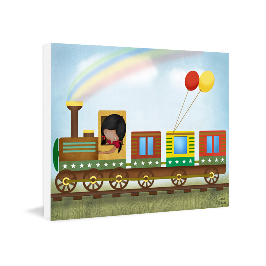 Harriet Bee Choo Choo The Train Graphic Art Print Wayfair