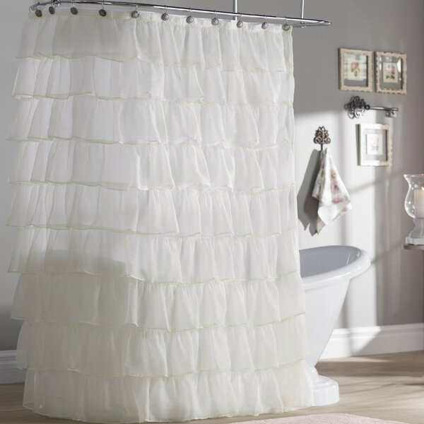 Atia Voile Ruffled Tier Shower Curtain by Ophelia & Co.