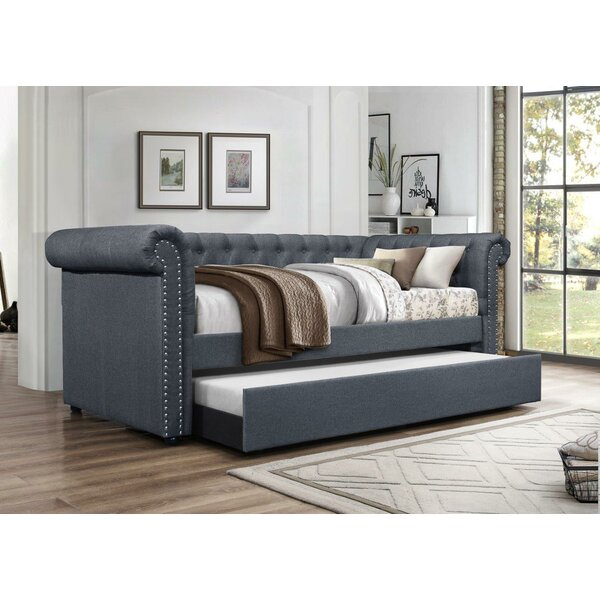 Zac Upholstered Twin Daybed with Trundle by Alcott Hill