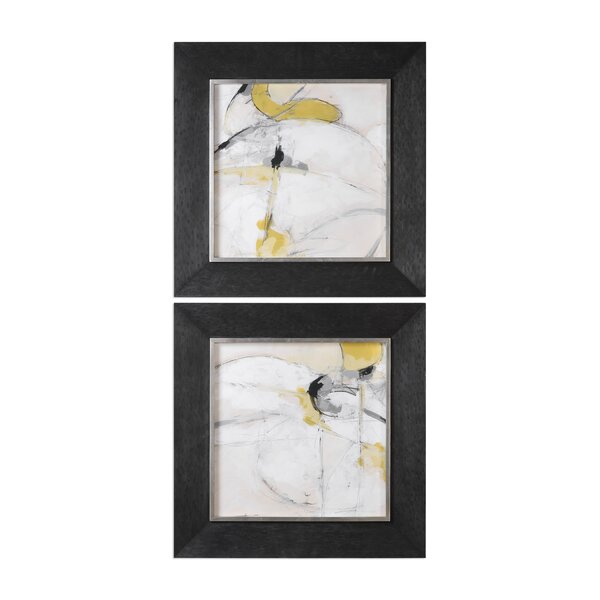Trajectory Modern Abstract 2 Piece Framed Painting Print Set by Corrigan Studio