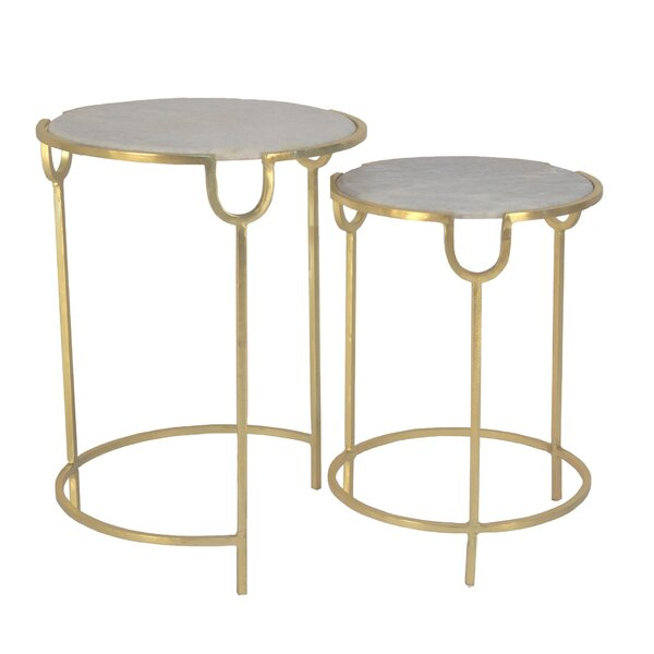 Sunny Side 2 Piece Nesting Tables By Everly Quinn