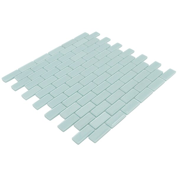Recoup 12 x 11.75 Glass Mosaic Tile in Green by Splashback Tile