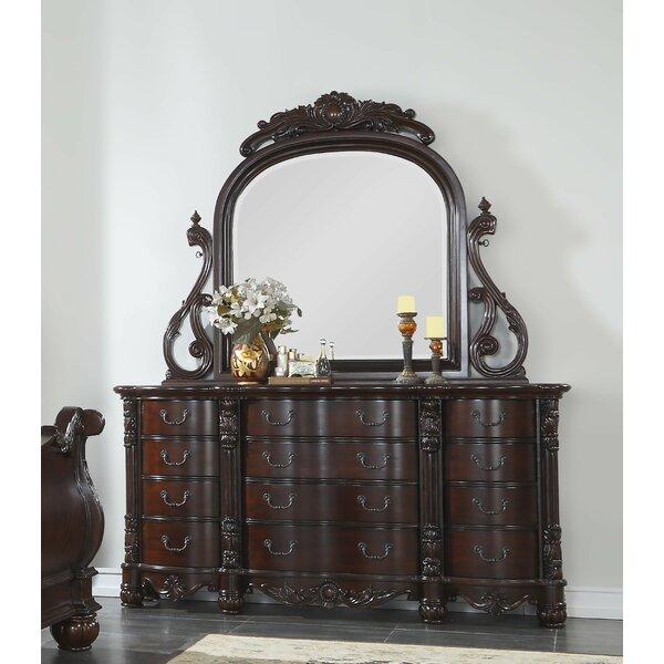Treyton 12 Drawer Dresser with Mirror by Astoria Grand