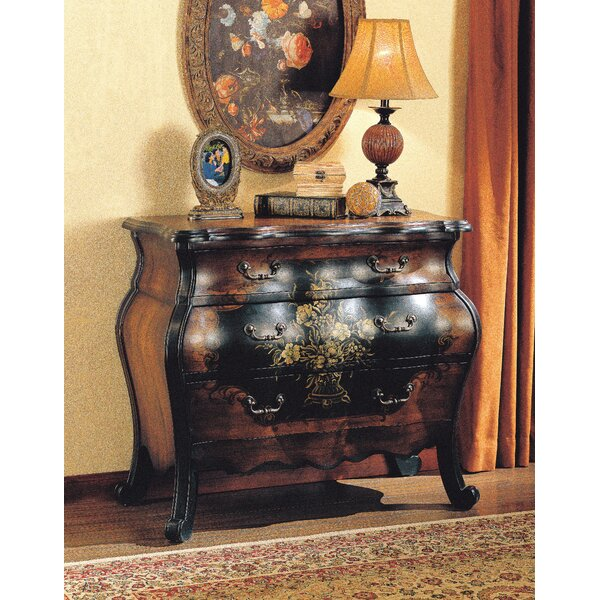 Sultan 3 Drawer Bombe Accent Chest by Alcott Hill Alcott Hill