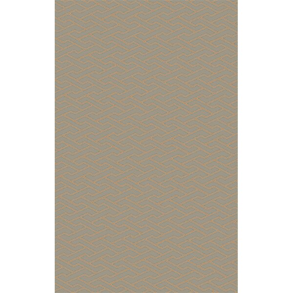 Amezquita Hand-Woven Taupe Area Rug by Wrought Studio