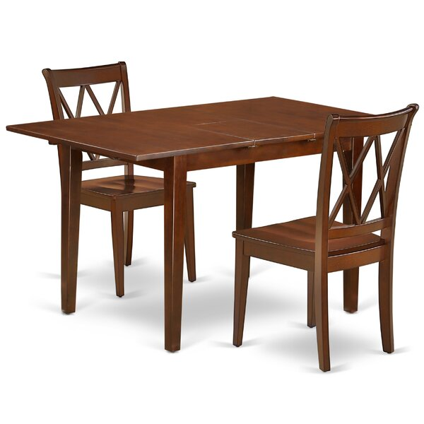 Krish 3 Piece Extendable Solid Wood Breakfast Nook Dining Set by August Grove August Grove