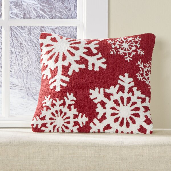 Flurries Hooked Pillow Cover by Birch Lane™