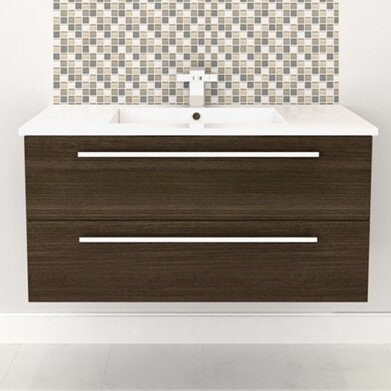 Silhouette Wall Hung 48 Single Bathroom Vanity Set by Cutler Kitchen & Bath