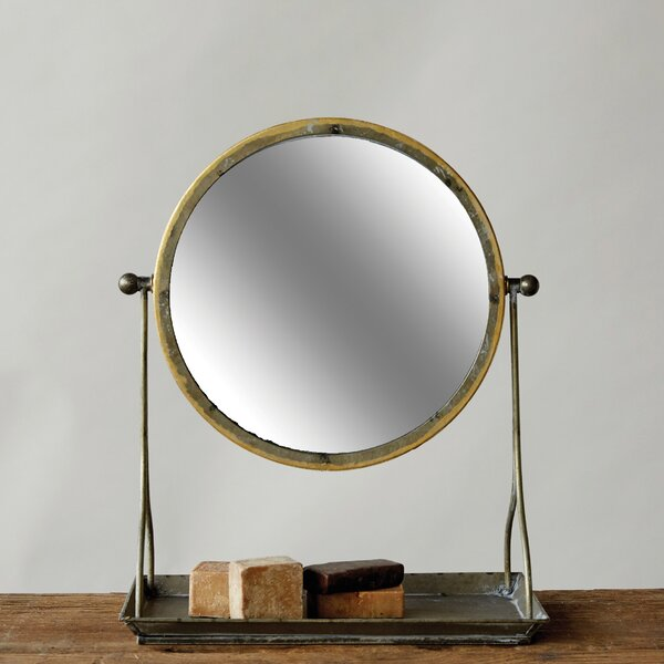 Vitela Metal Framed Mirror by Gracie Oaks