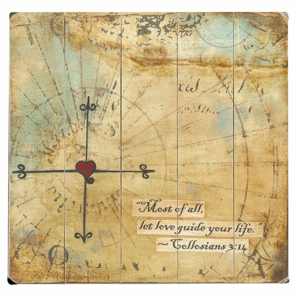 Let Love Guide by Krista Brock Photographic Print Multi-Piece Image on Wood by Artehouse LLC