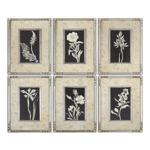 Glowing Florals by Grace Feyock 6 Piece Framed Graphic Art Set by Uttermost