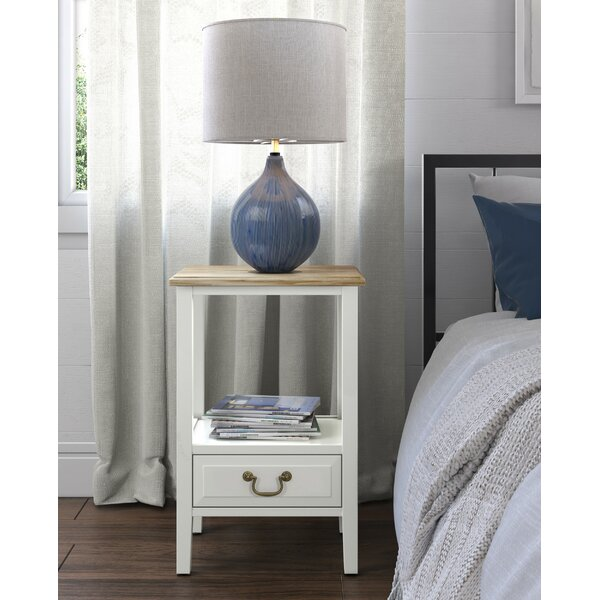 Caspar End Table With Storage By Charlton Home