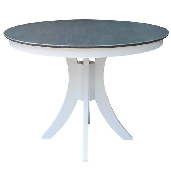 Round Fixed Top Pedestal Counter Height Pub Table by Sedgewick Industries
