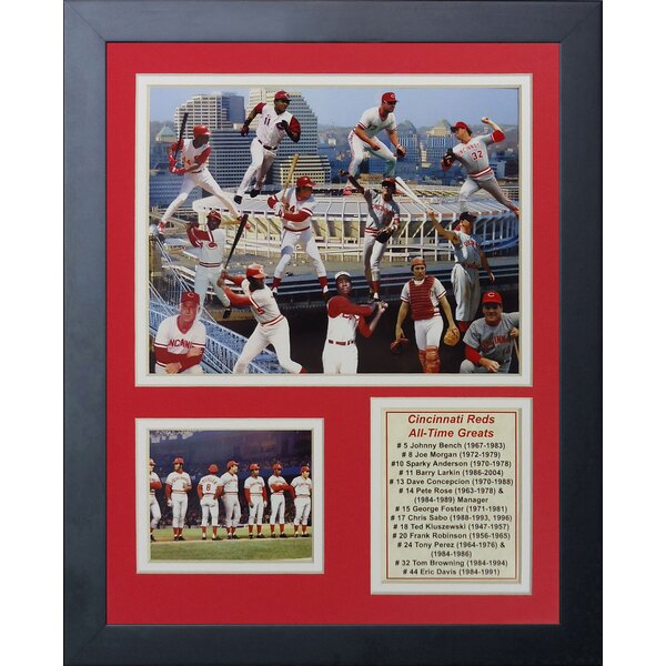 Cincinnati Reds Greats Framed Memorabilia by Legends Never Die