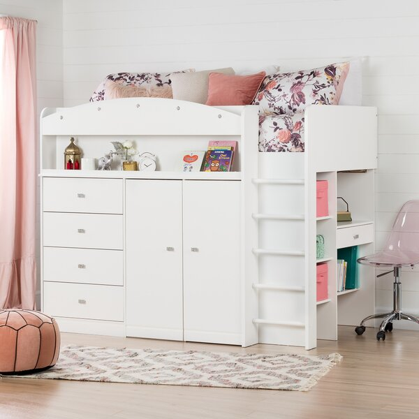 Tiara Twin Low Loft Bed by South Shore