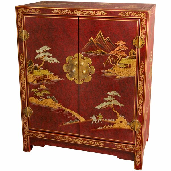 Diane Crackle Lacquer 2 Door Accent Cabinet by World Menagerie World Menagerie