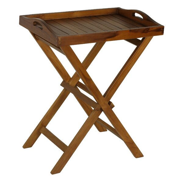 Solid Wood Side Table by Bare Decor