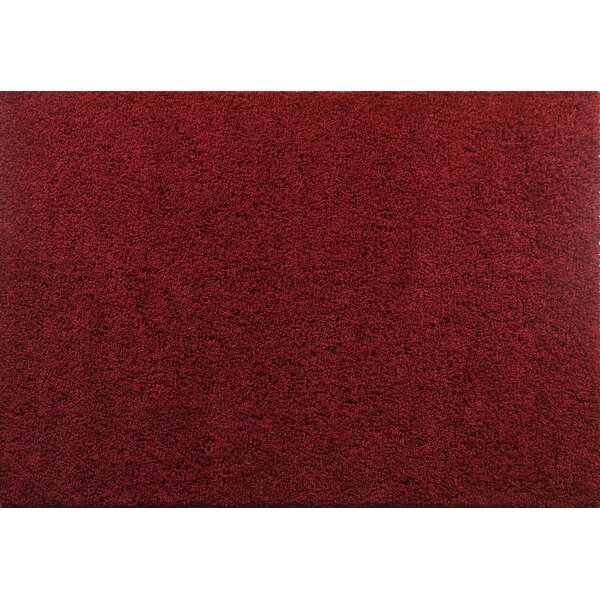 Aadhya Plush Red Area Rug by Winston Porter