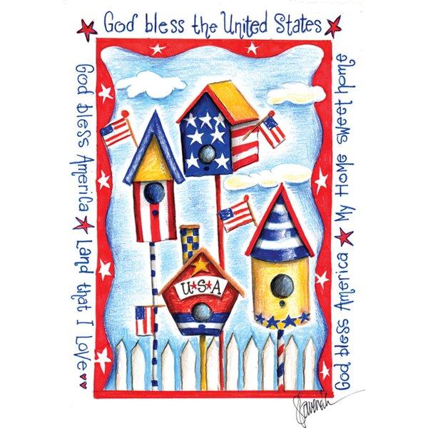 USA Birdhouse Garden flag by Toland Home Garden