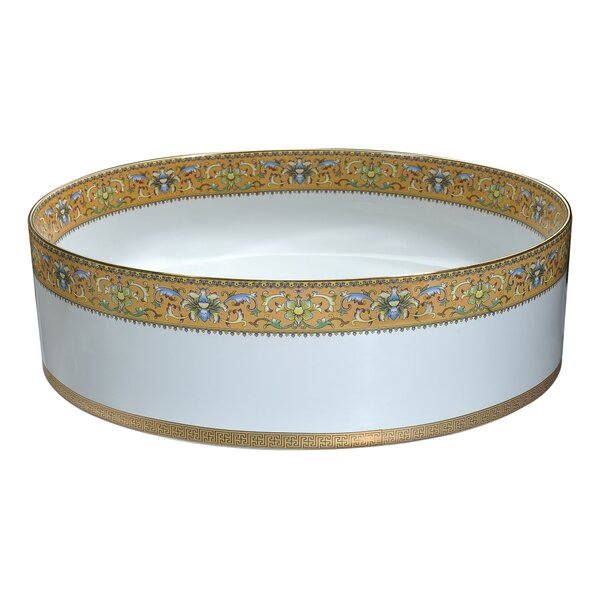 Byzantian Vitreous China Circular Vessel Bathroom Sink by ANZZI