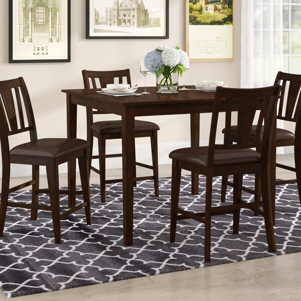 Rushford Leal 5 Piece Counter Height Dining Set