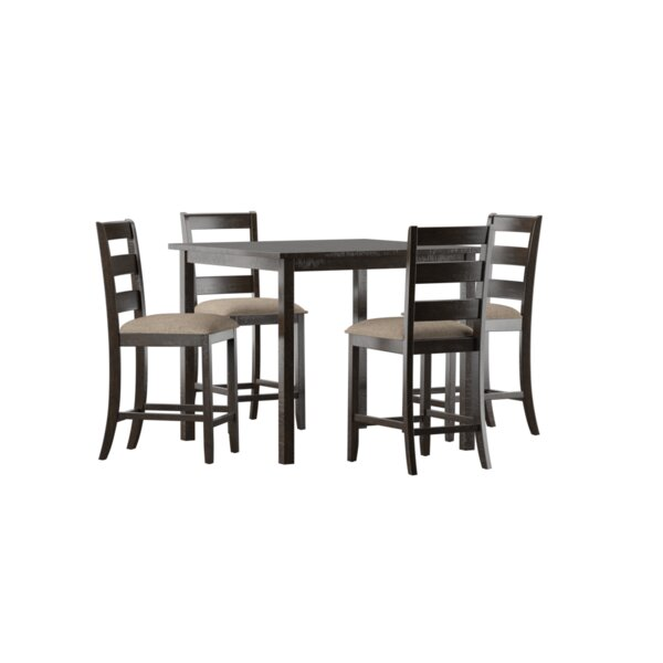 Catalina 5 Piece Solid Wood Counter Height Dining Set by Darby Home Co Darby Home Co
