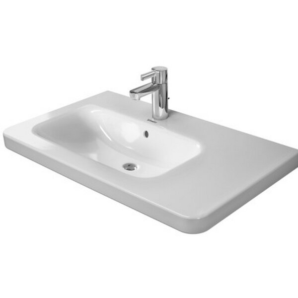 DuraStyle Ceramic 32 Wall Mount Bathroom Sink with Overflow by Duravit