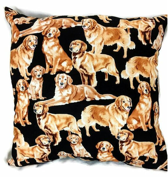 Golden Retriever Throw Pillow by East Urban Home