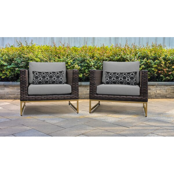 Barcelona Patio Chair with Cushions (Set of 2) by TK Classics