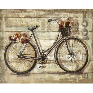'Wheels II' by Sandy Doonan Graphic Art on Wrapped Canvas by Portfolio Canvas Decor