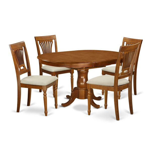 Portland 5 Piece Extendable Dining Set by East West Furniture