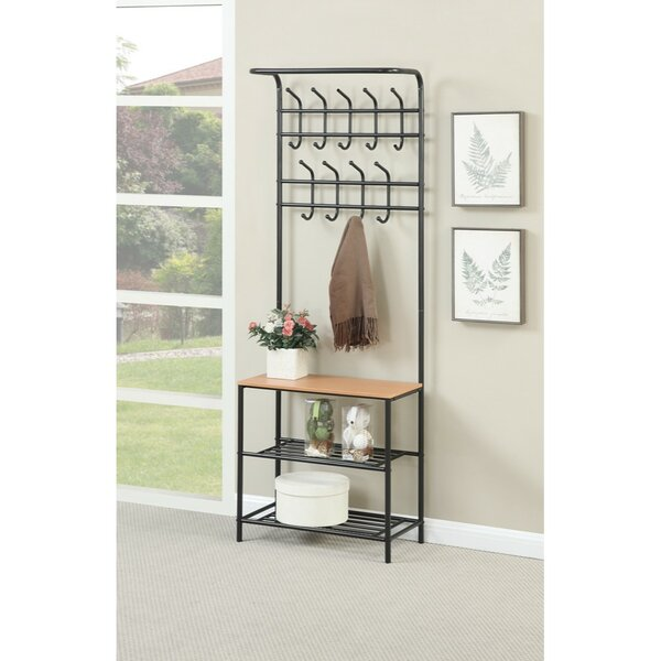 Mcrae Metal Coat Rack with 3 Shelves by Winston Porter