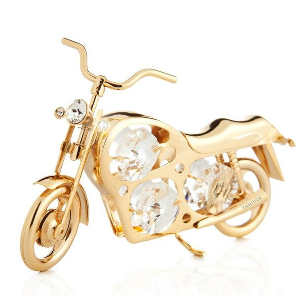 Dirt Bike Motorcycle Ornament by Matashi Crystal