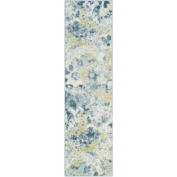 Seyler Beige/Blue Area Rug by Wrought Studio