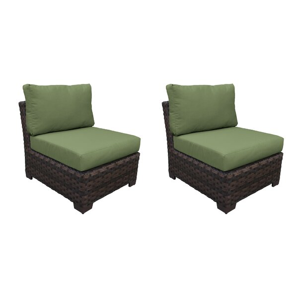 Kathy Ireland Homes & Gardens River Brook Armless Patio Chair (Set of 2) by kathy ireland Homes & Gardens by TK Classics